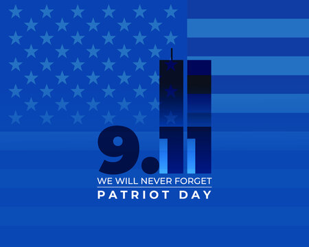 vector illustration for american patriot day - we will never forget