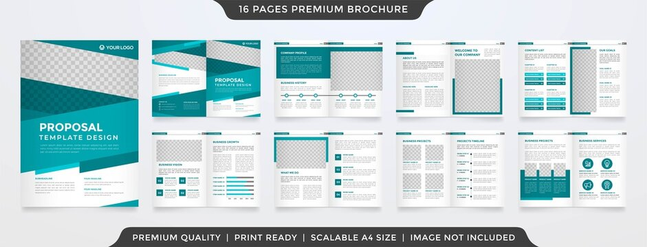 business brochure template layout design with simple style and modern concept use for business proposal and business catalog
