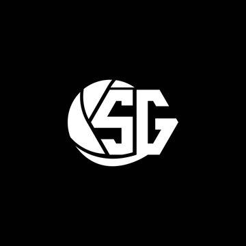 Initial SG logo design Geometric and Circle style, Logo business branding.