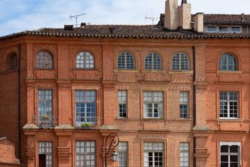 Façade de Montauban, Tarn-et-Garonne, Occitanie