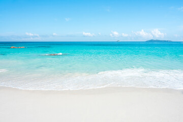 Wall Mural - Beautiful beach with white sand and turquoise water