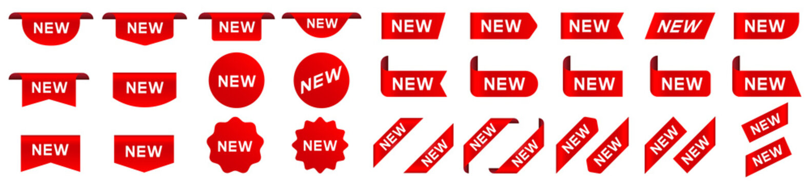 Tag new set. New label and tag. Sticker with word new. Vector
