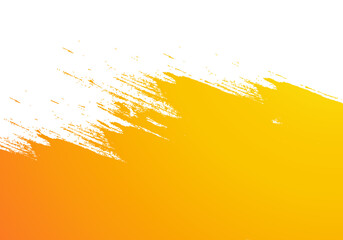 Abstract orange watercolor brush stroke background Fototapete