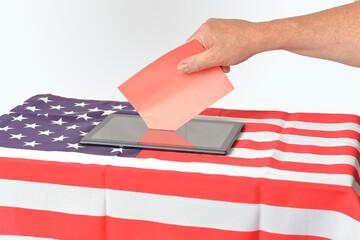 Digitale Abstimmung, US Wahl Präsidentschaftswahl
