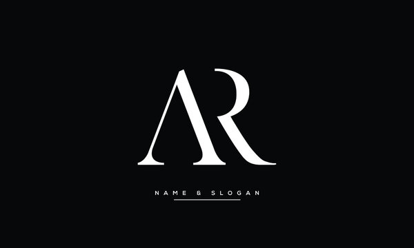 AR ,RA ,A ,R , Abstract Letters Logo Monogram
