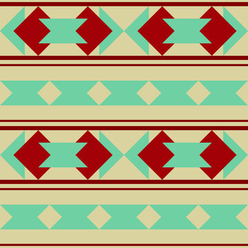 Vector abstract seamless pattern in Santa Fe design style