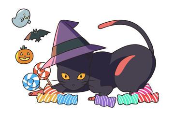 黒猫とお菓子