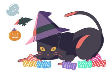 黒猫とお菓子(線無し)