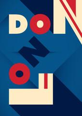 Fototapeta London poster design with typography. Vector illustration. obraz