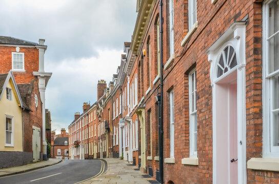 Typical Street in Shrewsbury Town