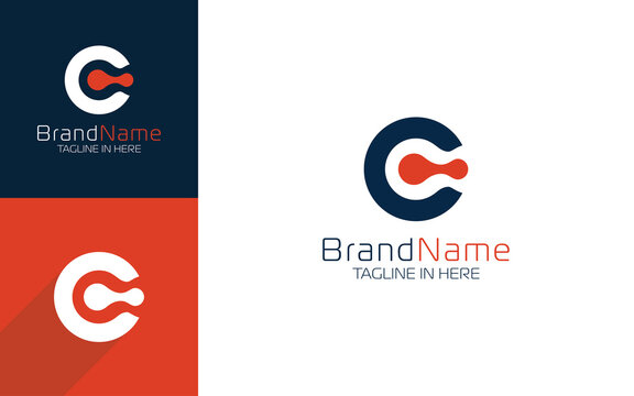 Letter C logo with simple and modern style