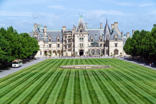 June 2020. A view on Biltmore Estate a historic house museum and tourist attraction in Asheville, North Carolina. The museum remains open for visitors with a limited capacity amid a covid19 pandemic.