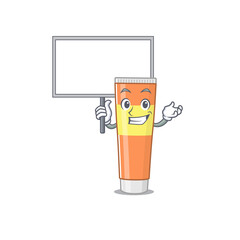 Wall Mural - sweet Mascot design of toothpaste bring a board