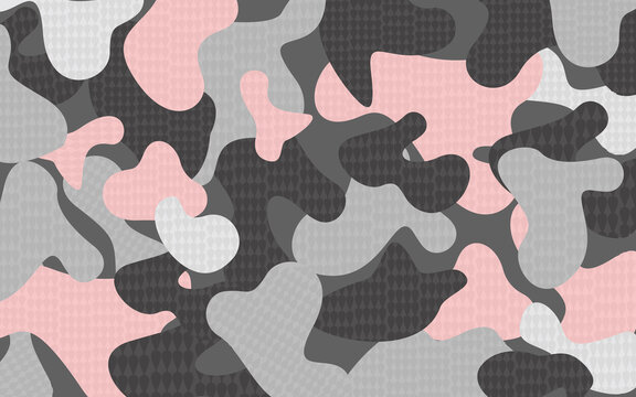 Vector Pink Camouflage Texture