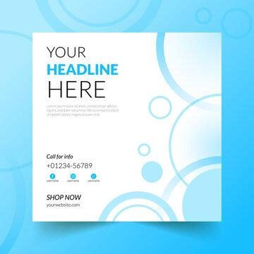 Social media timeline post and web banner design Template