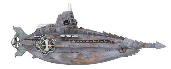 Fantasie Unterseeboot, Freisteller