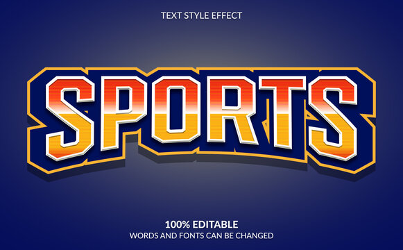 Editable Text Effect, Sports Text Style