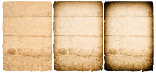 Used old paper texture background vignette