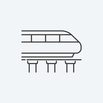 Monorail icon. Vector Illustration