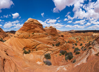 Coyote Buttes sandstone formations in Utah in the USA