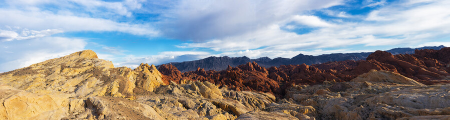 Fire Canyon in Valley of Fire in the USA