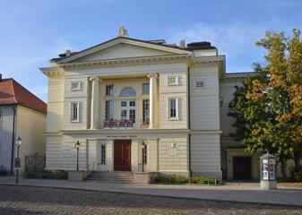 Bernburg, Germany Carl-Maria-von-Weber Theater building in the city center