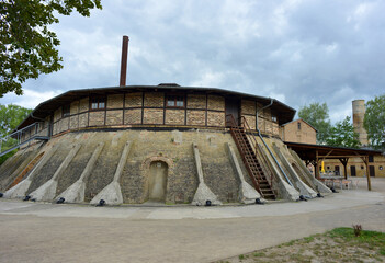 Mildenberg, Germany 08-16-2019 ring oven in an ancient brick work factory now a industry museum