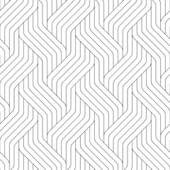 Wall Murals Pattern Vector geometric seamless pattern. Modern geometric background. Striped grid.