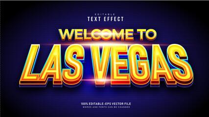 Fototapeta Las Vegas Text Effect
