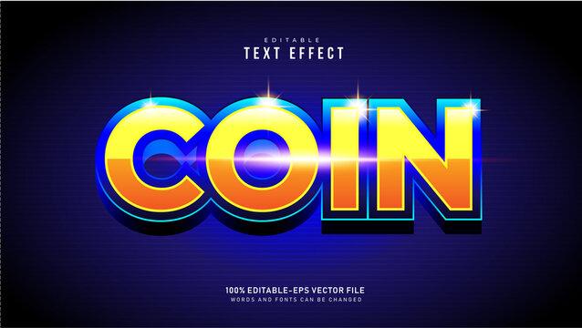 Coin Text Effect