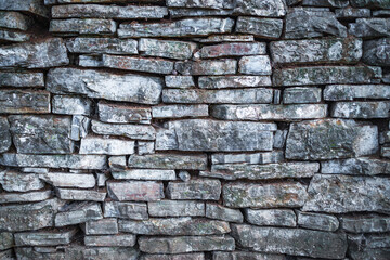 Old stone wall texture in a background