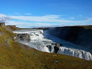 Iceland-view of Gullfoss waterfall on the river Hvítá