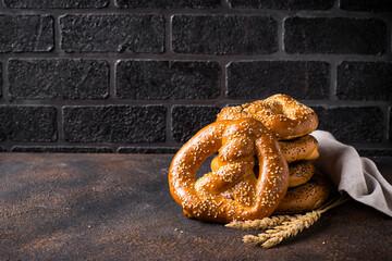 Pretzels, traditional Bavarian bakery