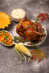 Thanksgiving Day traditional festive dinner