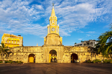 Historic Clock Tower Gate, Cartagena, Colombia