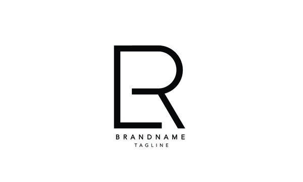 Alphabet letters Initials Monogram logo LR, RL, L and R