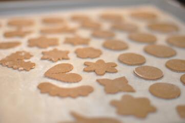 christmas cookies on the table Wall mural