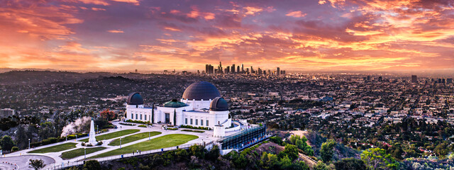 Los Angeles sunset from Griffith park
