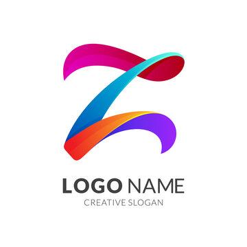 Initial letter Z logo, 3d modern logo style