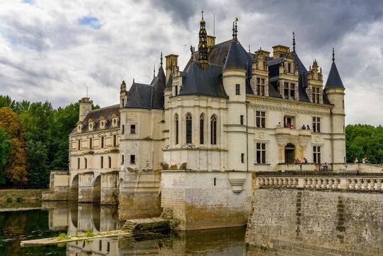 CHENONCEAUX, FRANCE - JULY, 31, 2017: Chateau de Chenonceau a French castle, Loire Valley, France. UNESCO World Heriatge