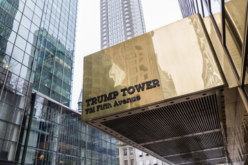 Eingang des Trump Tower in New York