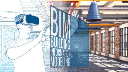 BIM die Planungsmethode ist die Digitalisierung im Bauwesen - VR Brille