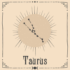 Foto op Plexiglas Retro sign occult astrology zodiac sign