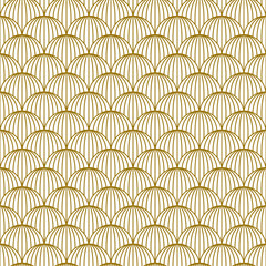 Art Deco seamless golden pattern in 1920s style