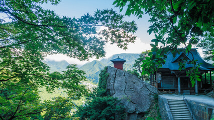 Yamadera is a scenic temple located in mountain near Yamagata city.