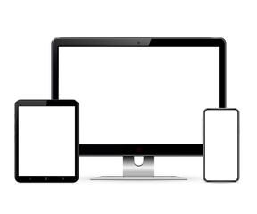Computer screen, tablet, phone