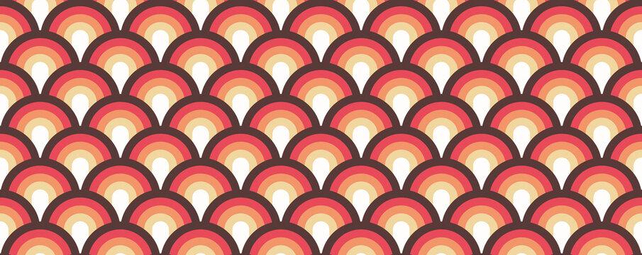 70's retro modern pattern material vector illustration