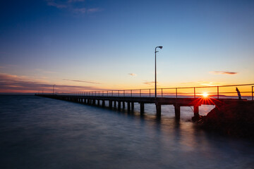 Rye Pier at Sunrise in Australia