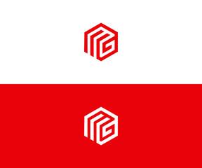 mg logo design vector format