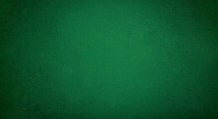 Poker table felt background in green color